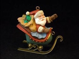 Hallmark Christmas Ornament Santa in Sleigh