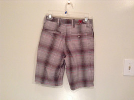 Gray Plaid Shorts by Games Size 12 Side and Back Pockets Button Zipper Closure image 3