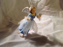 Hallmark Unlike Any Other Holiday Angel Blue Ornament Ribbon for Hanging