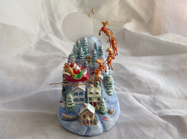 Hallmark Keepsake The Sleeping Village with Santa on Sled Ornament
