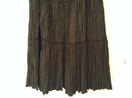 Isaac Mizrahi Black Pleated Skirt with Belt Size XXL Elastic Waist image 6