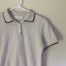 International Tour IZOD Club Beige with Black Accents Polo Shirt Size Small image 2