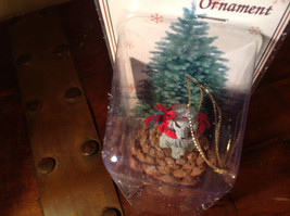 Gray Poodle with Scarf Real Pine Cone Pet Pine Cone Christmas Ornament image 6