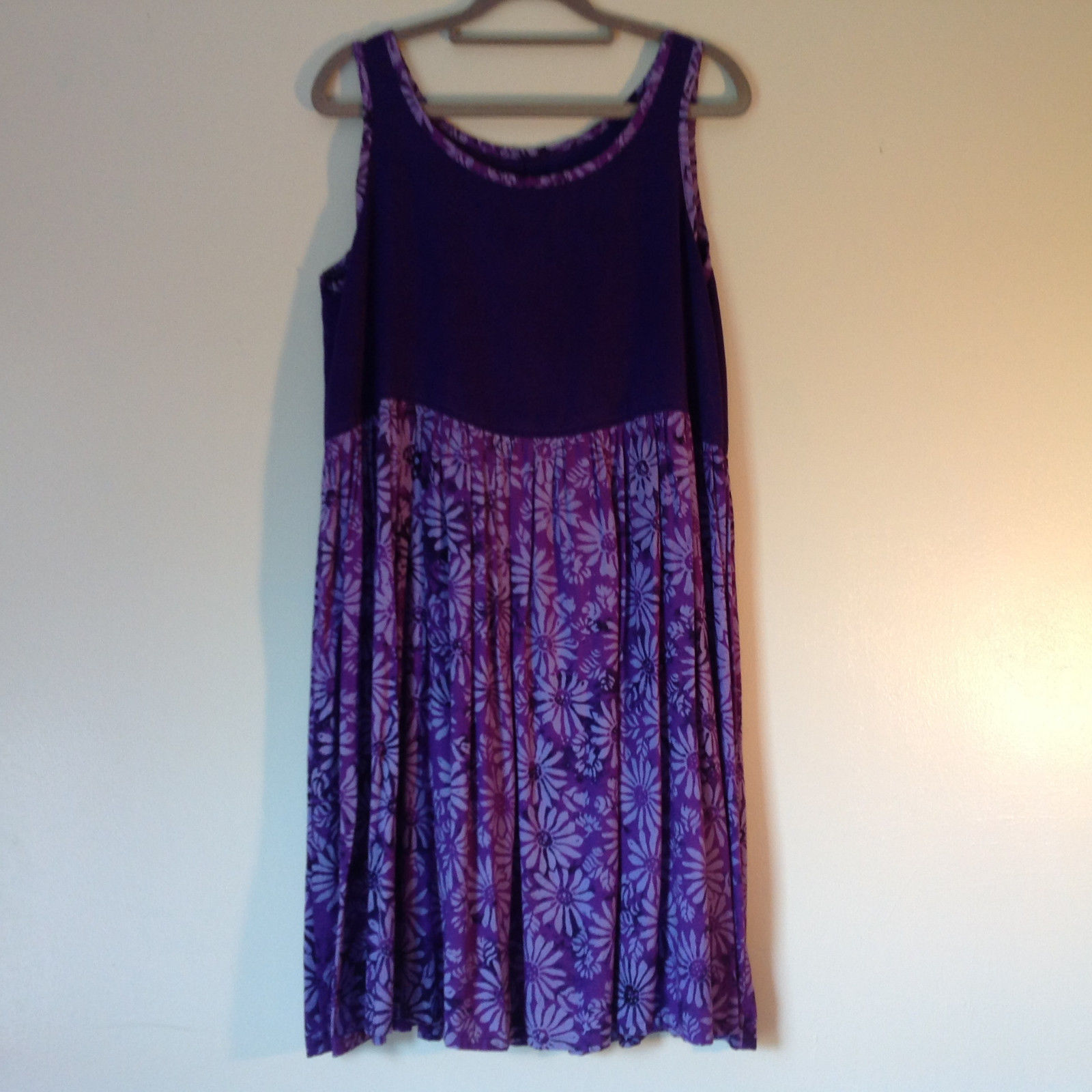 Hand Made Purple Sleeveless Dress Perfect for Summer Measurements Below