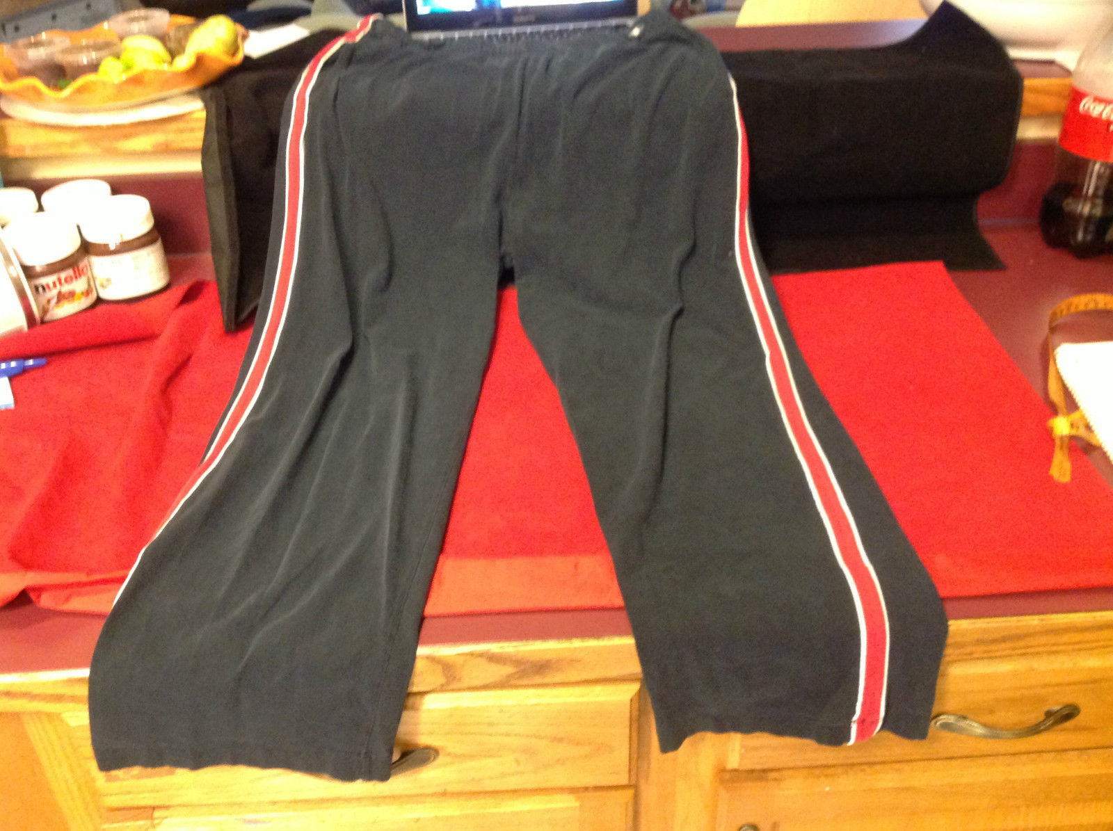 Ladies Black Red White Champion Long Pants Size XL