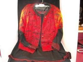 Ladies Emanuel 200 Roma 2 Piece Italian Angora Suit red