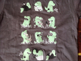 Gray Toddler T-Shirt with Green Dinosaurs from Threadless Kids Size 3T image 2
