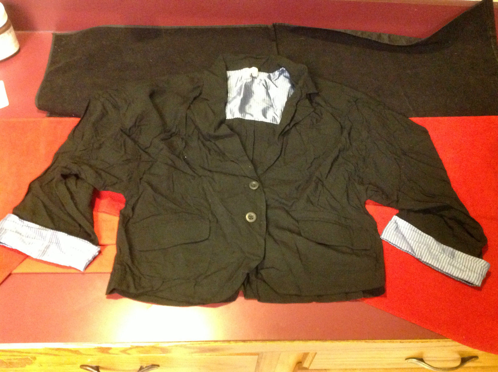 Ladies Black with Light Blue Blazer For People Size SP