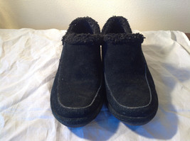 Lands End Black Warm Casual Shoes 1 Inch Heel US Size 7.5B