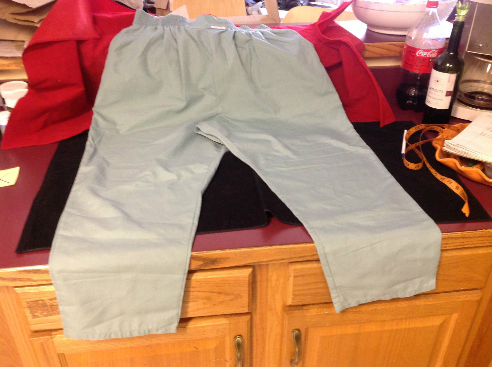 Ladies Cherokee Light Green Pants Stretch Waist Size 18 Inch W 40 Inch L