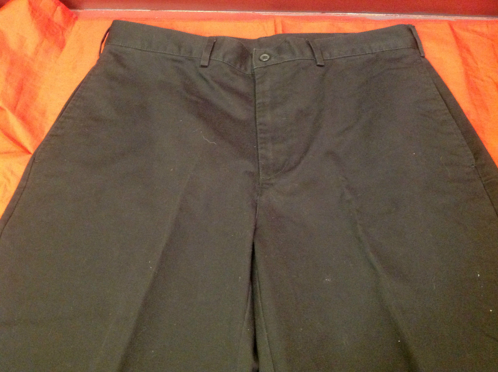 Lands End Ladies Black Long Casual Pants Size 35 17 Inch W 39 Inch L