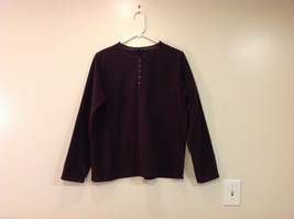 Lands End Dark Brown Fleece 100% Polyester Sweatshirt Sweater, Size L (14-16)