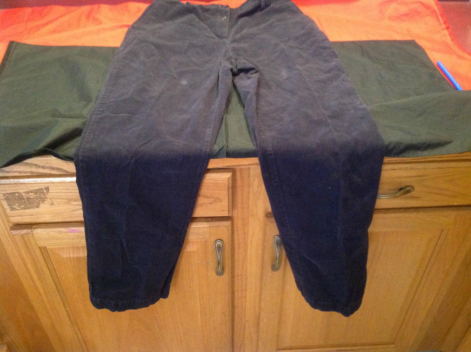 Lands End Ladies Black Corduroy Long Pants Size 14
