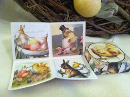 6 Sided Cube Vintage Church Puzzle - Spring chick bunny lamb Themed image 4