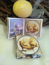 6 Sided Cube Vintage Church Puzzle - Spring chick bunny lamb Themed image 5