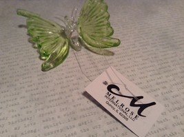 Green Butterfly Ornament 3 Inches Long 100 percent glass image 6