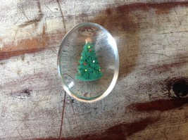 Green Christmas Tree Inside Clear Touch Stone image 3
