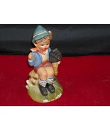 Hand Painted Ceramic Boy figurine vintage from New York - $39.99