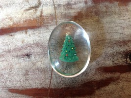 Green Christmas Tree Inside Clear Touch Stone image 2