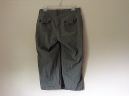 Green Cargo Capri Pants by DOCKERS Size 10 Zipper and Button Closure Pockets image 6