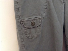 Green Cargo Capri Pants by DOCKERS Size 10 Zipper and Button Closure Pockets image 4