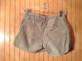 Green Corduroy Shorts Two Front Pockets Button Zipper Closure No Tags image 4