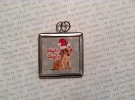 Jingle Jingle Charm Present Tie On Versatile Reversible Tag Metal Glass Tag image 2