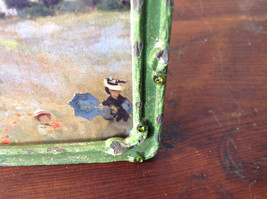 Green Metal Antiqued Blue Bird Decorated Photo Frame Jewel Accented image 8