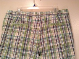 Green and Blue Plaid Casual Shorts Size 16 Kim Rogers Front and Back Pockets image 5