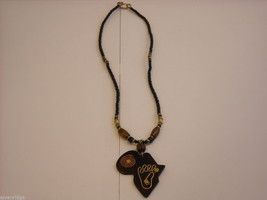 Handcrafted African Pendant on Beaded Necklace