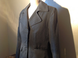 Josephine Chaus Gray Stripped Formal Jacket Blazer One Front Pocket Size 10 image 5