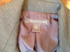 Josephine Chaus Gray Stripped Formal Jacket Blazer One Front Pocket Size 10 image 11