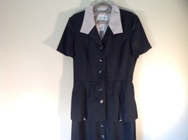 Julian Taylor Long Black Dress with Short Sleeve Jacket Attached One Piece image 2