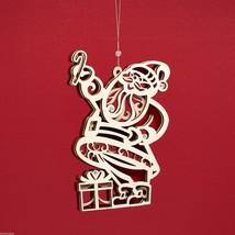 Laser Wood Ornament Flourish Santa Claus image 1