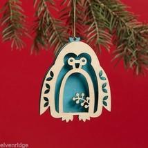 Laser Wood Ornament Flourish Penguin