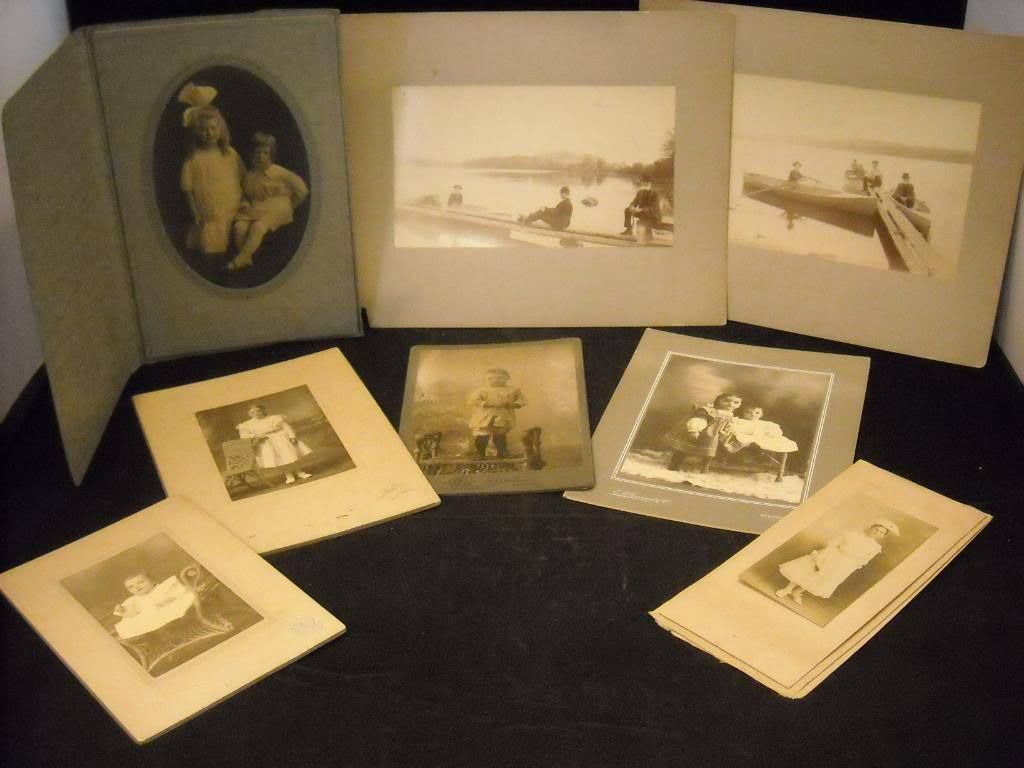Late 19th Century Photographs Sepia children portraits