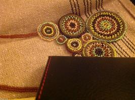 Guatemala women's greens  hand beaded crocheted macrame necklace #2 image 2