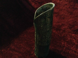 Handmade Green Ceramic Vase w Texture Scale Like Design 11 Inches High