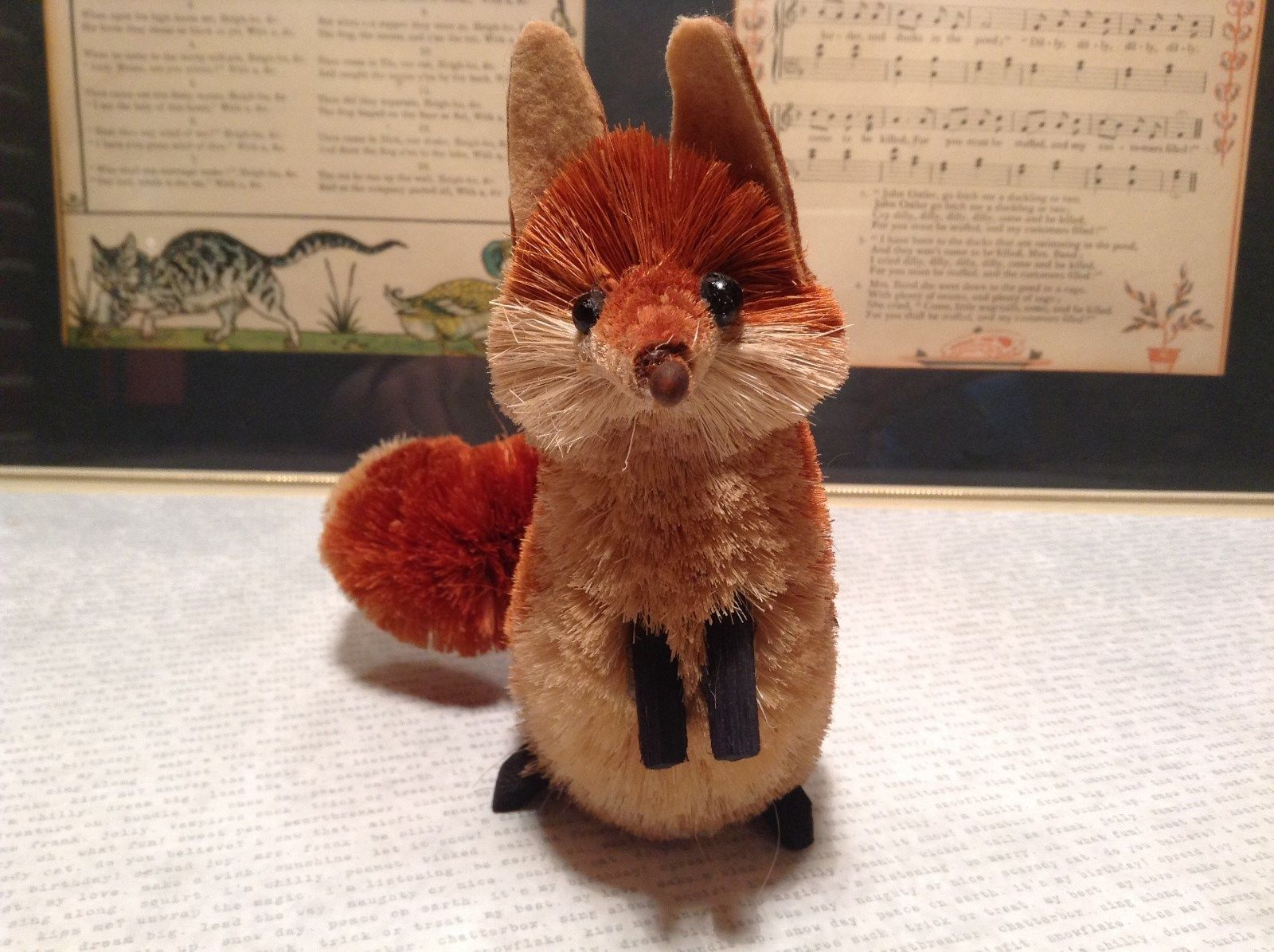 Handmade Fox Buri Palm Fiber Brush Decoration Eco Fiber Sustainable