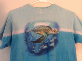 Kid U Not Size Large 14 to 16 Blue with Turtle and Fish Ocean 100 Percent Cotton image 2