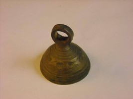 Handmade Vintage Brass Bell Etched Leaf Design - $39.99