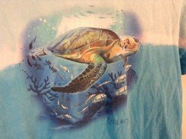 Kid U Not Size Large 14 to 16 Blue with Turtle and Fish Ocean 100 Percent Cotton image 4