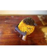 Handmade Yellow Bird Buri Palm Fiber Brush Decoration Eco Fiber Sustainable - $39.99