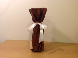 Handmade by Caroline Hallak NEW Personal Touch Gift Wine Bag Bronze Brown