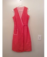 Handmade V Neck Sleeveless Summer Dress Red with White Polka Dots  Belt ... - $24.74