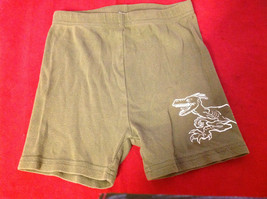 Kids Green Shorts with Picture of Dragon on Leg in White Size 6 image 6