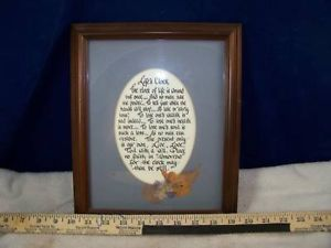 Life Clock Proverb matted and framed wall art