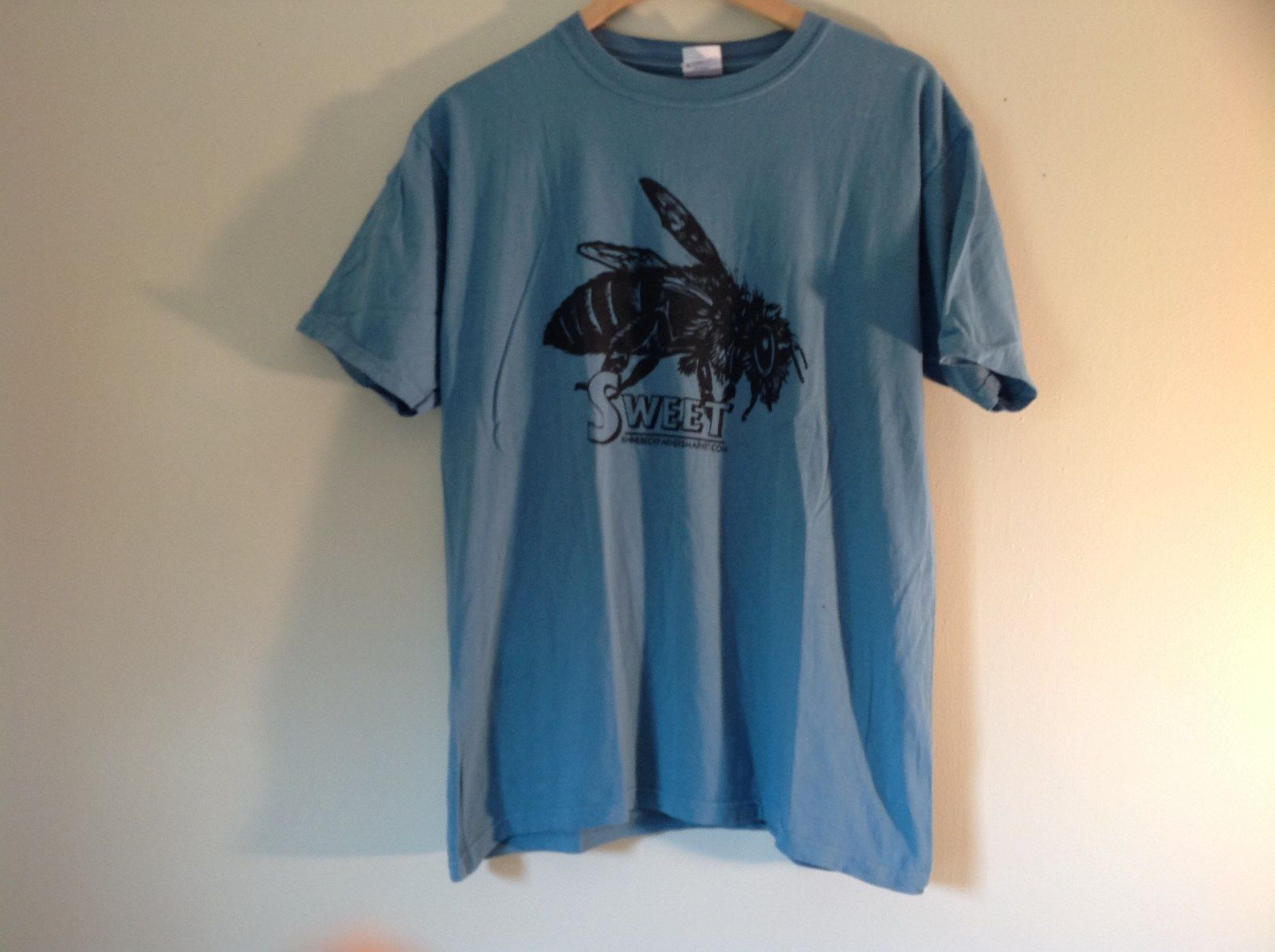 Light Blue Short Sleeve T Shirt Sweet Rhinebeck Farmers Market Size Medium