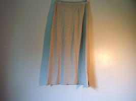 Light Brown L L Bean Long Maxi A Line Elastic Waisted Skirt Size Small Regular