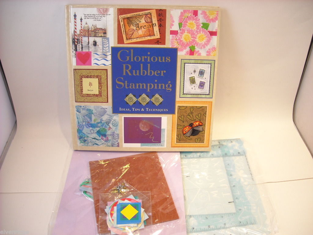 Hardcover Book Glorious Rubber Stamps 2005